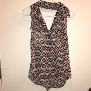 Material Girl collared sleeveless top